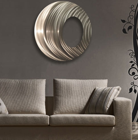 Ringtone Circle Metal Wall Art Panel With Circle Wall Art (Image 7 of 10)