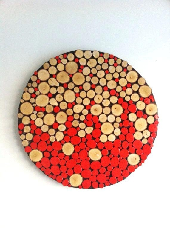 Round Wall Art Surprising Inspiration Round Wood Wall Decor House With Regard To Round Wood Wall Art (Image 5 of 10)