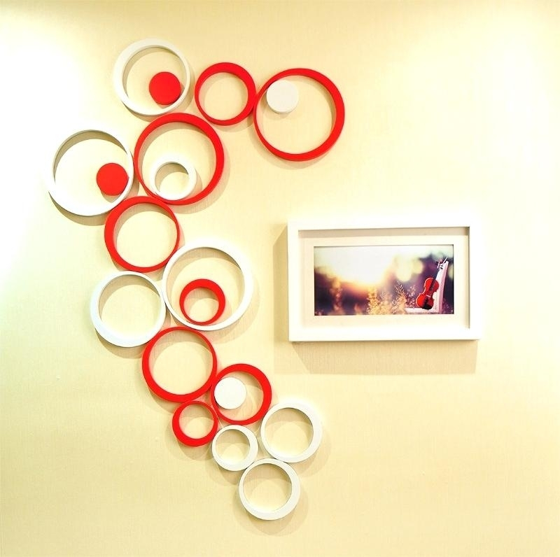 Round Wall Decor Wall Arts Metal Circle Wall Art Shining Design With Circle Wall Art (Image 8 of 10)