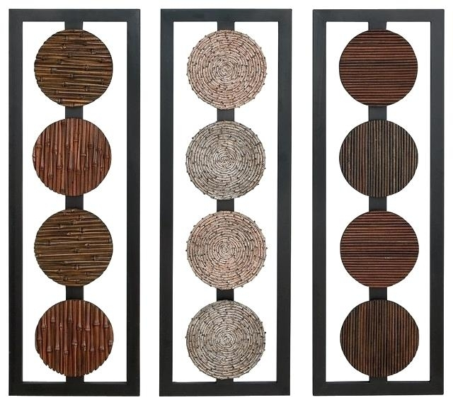 Round Wood Wall Decor Circular Wood Wall Decor Prepossessing Intended For Round Wood Wall Art (Photo 9 of 10)