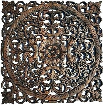 Round Wood Wall Decor Round Wood Wall Art Fancy Ideas Carved Wall In Wood Carved Wall Art (Image 9 of 10)