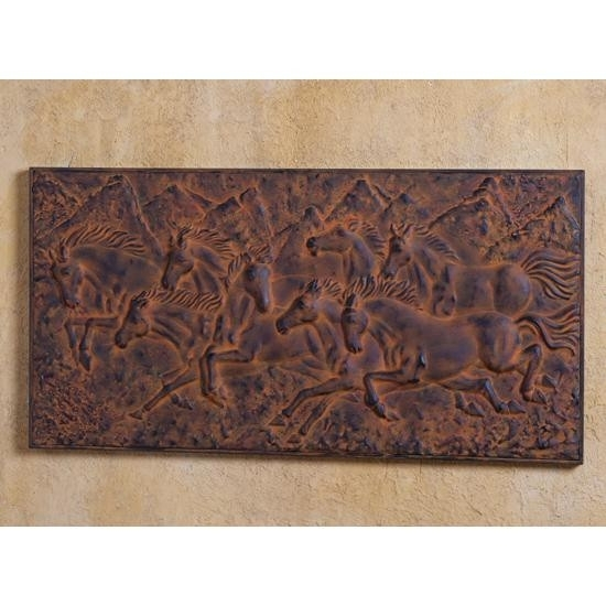 Rustic Bronze Horses Wall Art Within Horses Wall Art (Image 8 of 10)