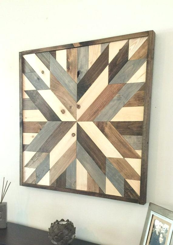Rustic Reclaimed Wood Wall Decor (Image 6 of 10)
