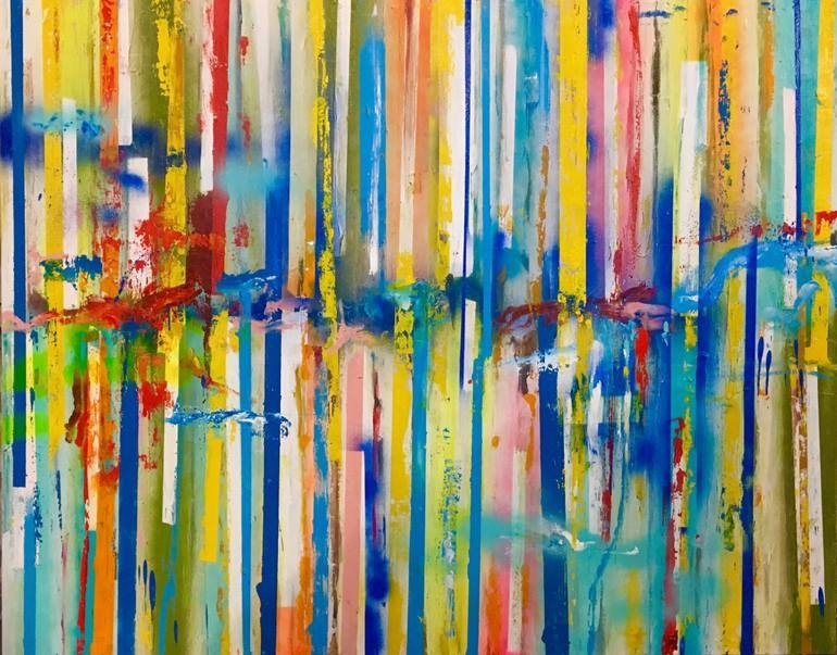 Saatchi Art: Articulated View Iii – Large 48X60 Colorful Wall Art Throughout Colorful Wall Art (Image 8 of 10)