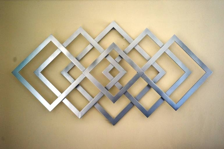Saatchi Art: Geometric Metal Wall Art Sculpturealdo Milin In Geometric Metal Wall Art (Image 9 of 10)