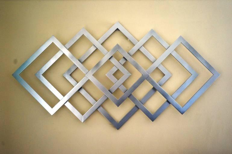 Saatchi Art: Geometric Metal Wall Art Sculpturealdo Milin Throughout Metal Wall Art Sculptures (Image 8 of 10)