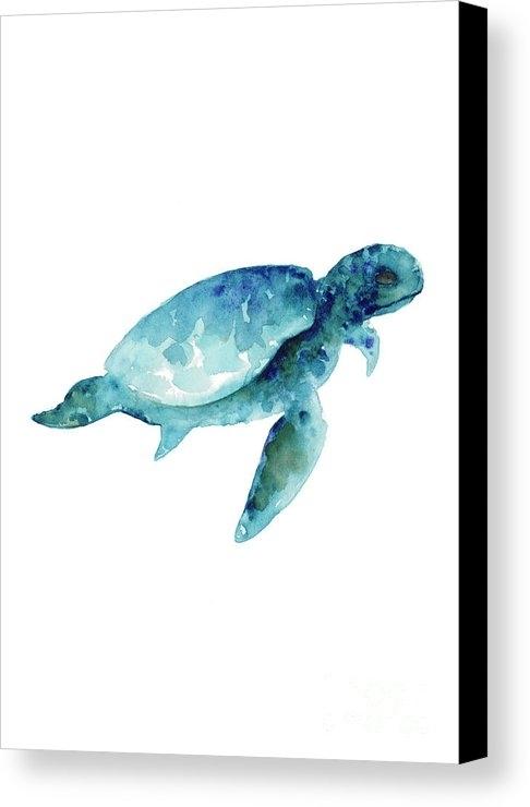 Sea Turtle Wall Art Print, Abstract Sea Animals Nursery Wall Art With Sea Turtle Canvas Wall Art (Image 7 of 10)