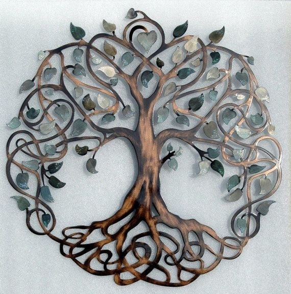 Shades Of Grey Tree Of Life Infinity Tree Metal Wall Art | Tree Of With Tree Of Life Metal Wall Art (Image 5 of 10)