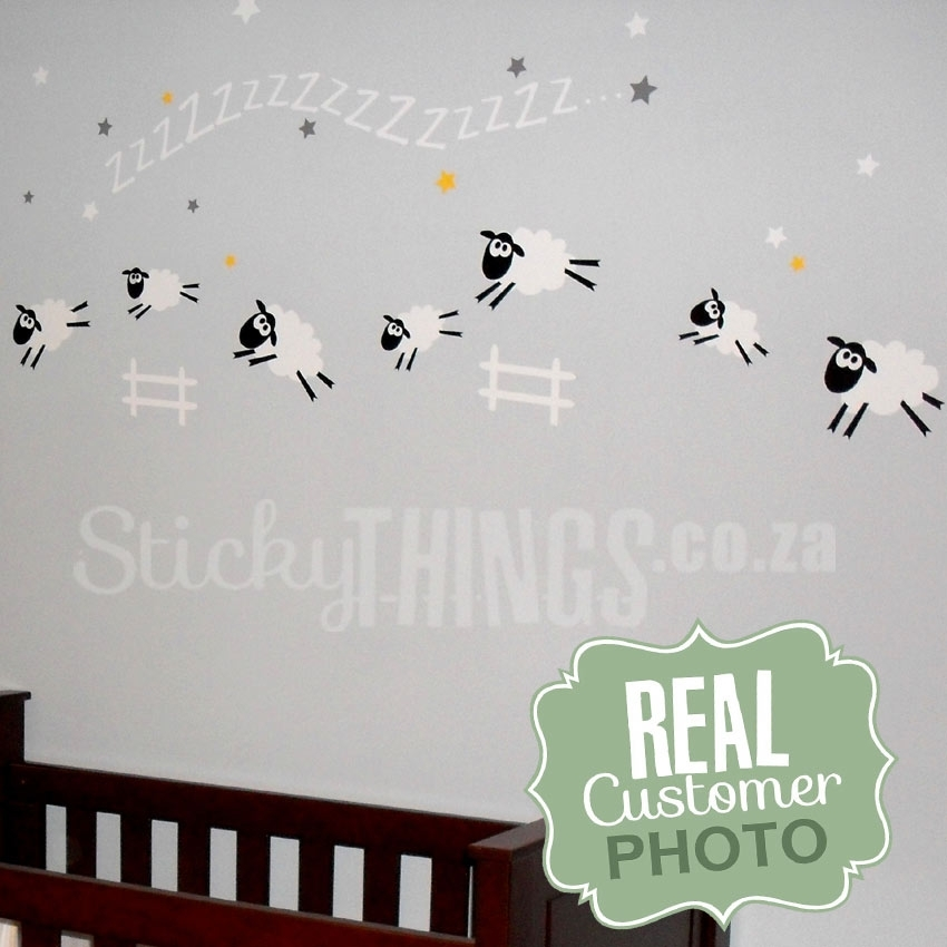 Sheep Baby Room Wall Sticker – Sheep Wall Decal – Stickythings.co (Image 9 of 10)