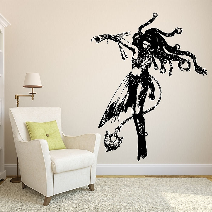Shiva From Final Fantasy X Vinyl Wall Art Decal Within Vinyl Wall Art (Image 5 of 10)