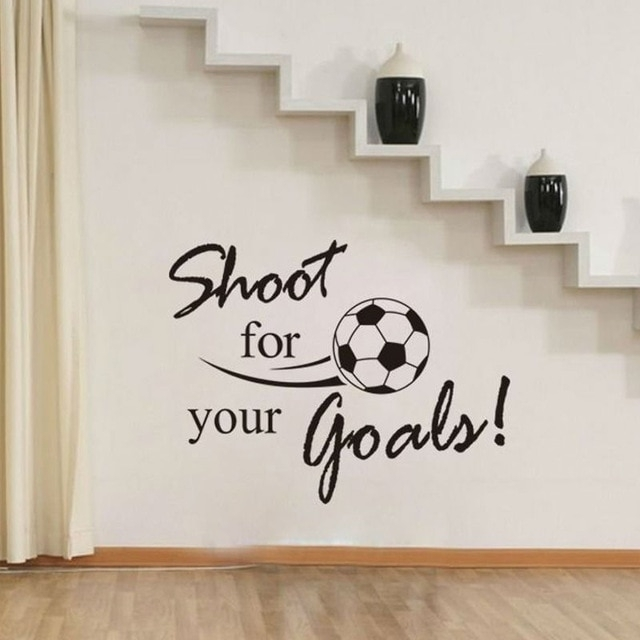 Shoot For Your Goals Soccer Wall Decals Vinyl Removable Art Wall Intended For Soccer Wall Art (Image 7 of 10)