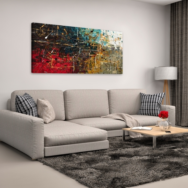 Shop Carmen Guedez 'equilibrium' Canvas Wall Art (24 X 48) – Free With Overstock Wall Art (Image 5 of 10)