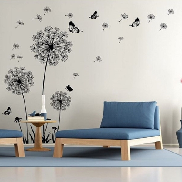 Shop Dandelion Wall Decal – Wall Stickers Dandelion Art Decor  Vinyl Within Dandelion Wall Art (Image 9 of 10)