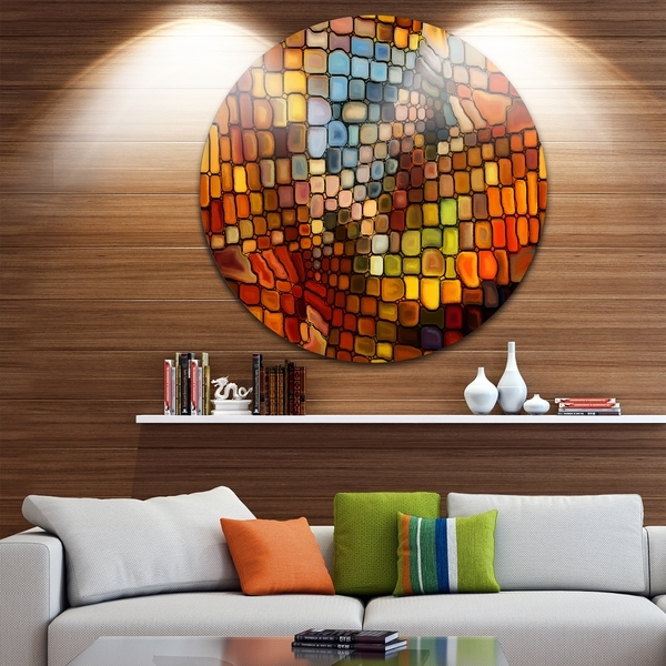 Shop Designart 'dreaming Of Stained Glass' Abstract Glossy Metal Inside Stained Glass Wall Art (Image 9 of 10)