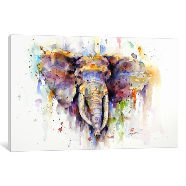 Shop Elephant Canvas Wall Art – Free Shipping Today – Overstock Throughout Elephant Canvas Wall Art (View 8 of 10)