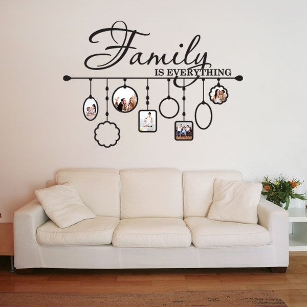 Shop Family Picture Frame Deco Vinyl Wall Art – Free Shipping Today Pertaining To Vinyl Wall Art (Image 6 of 10)