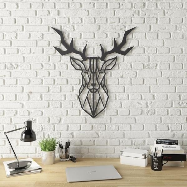 Shop Geo Deer Modern Metal Wall Art – Free Shipping Today Intended For Modern Metal Wall Art (Image 6 of 10)