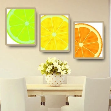 Shop Lemon Kitchen Decor On Wanelo Within Lemon Wall Art (Image 8 of 10)