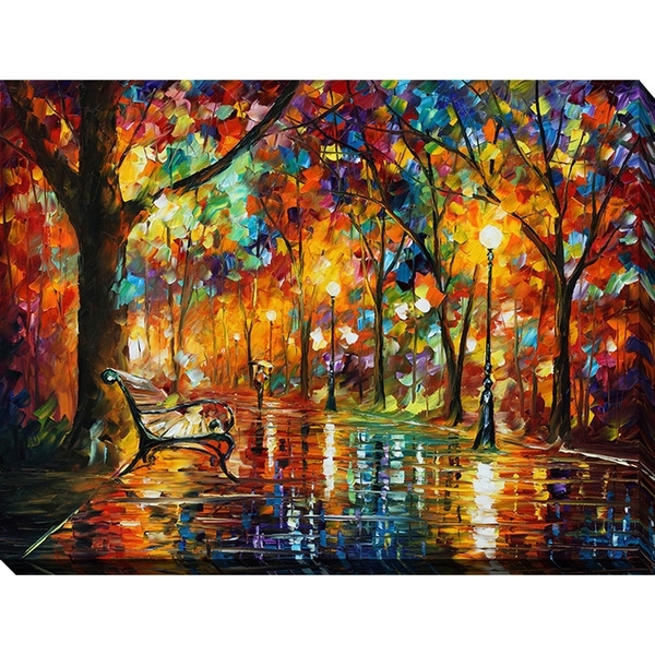 Shop Leonid Afremov 'colorful Night' Giclee Print Canvas Wall Art With Colorful Wall Art (Image 9 of 10)
