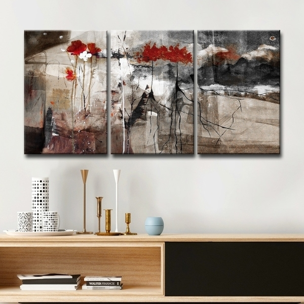 Shop Ready2Hangart 'abstract' Multi Panel Canvas Wall Art – Grey Pertaining To Multi Panel Wall Art (Image 8 of 10)
