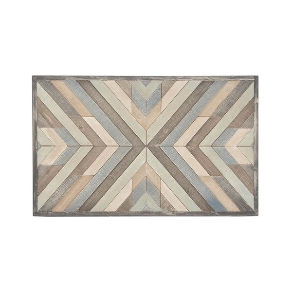 Shop Rustic Wood Framed Chevron Wall Art – Free Shipping Today Inside Chevron Wall Art (Image 7 of 10)