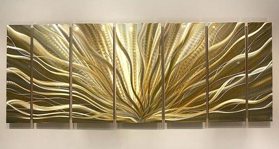 Silver Wall Art Decor Best Silver Wall Art Ideas On Silver Walls For Gold Wall Art (Image 8 of 10)