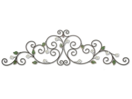 Snowdrop Crest Scroll Metal Wall Art | Wall Fu, Mirrors Throughout Metal Scroll Wall Art (Image 8 of 10)