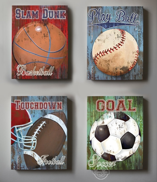 Sports Wall Decor – Talentneeds – In Sports Wall Art (Image 7 of 10)