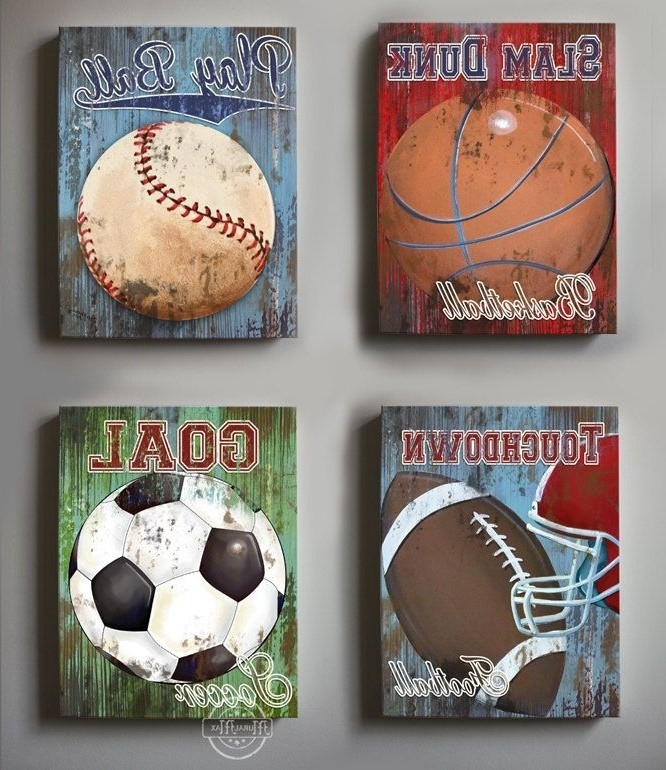 Sports Wall Decor Trend Sports Wall Decor – Wall Decoration Ideas Inside Sports Wall Art (Image 8 of 10)