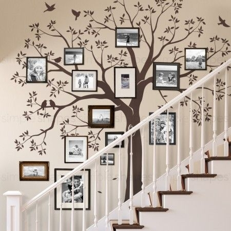 Staircase Family Tree Wall Decal | Diy | Pinterest | Family Tree Within Family Tree Wall Art (Image 8 of 10)