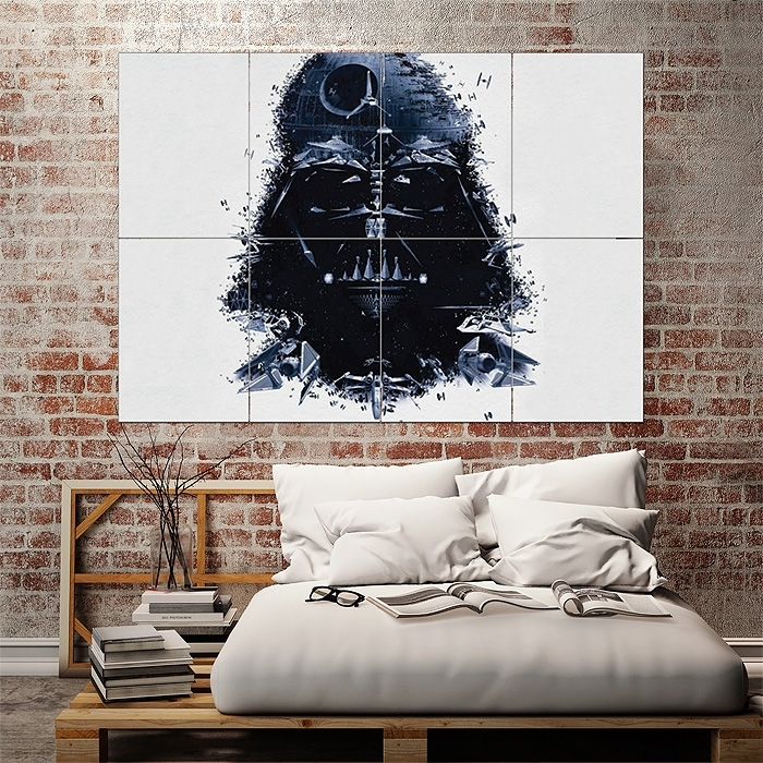 Star Wars Darth Vader Art Block Giant Wall Art Poster Pertaining To Darth Vader Wall Art (Image 7 of 10)