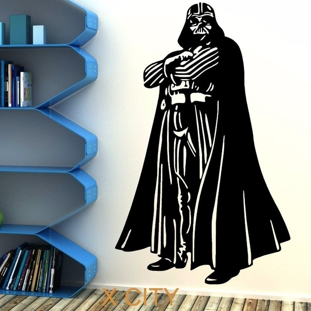 Star Wars Darth Vader Vinyl Wall Art Sticker Room Bedroom Movie Regarding Darth Vader Wall Art (Image 8 of 10)