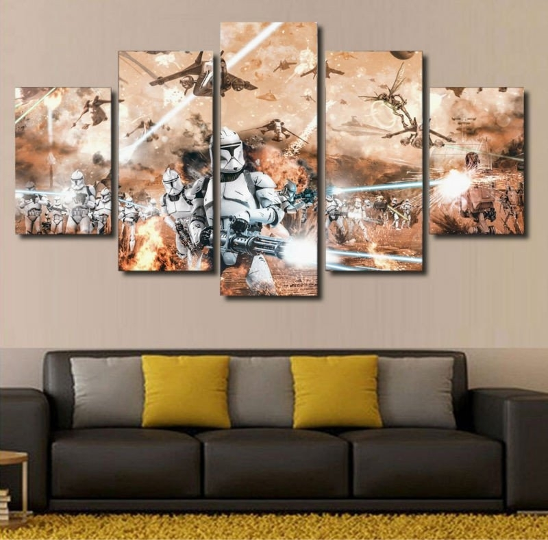 Star Wars Wall Art Theme : Andrews Living Arts – Fantastic Room With For Star Wars Wall Art (View 8 of 10)