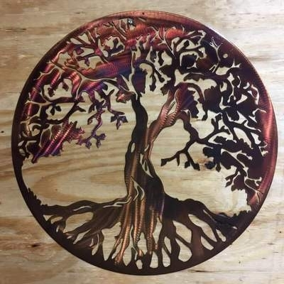 Strikingly Design Ideas Tree Of Life Wall Art Home Decoration Metal Throughout Tree Of Life Wall Art (Image 5 of 10)