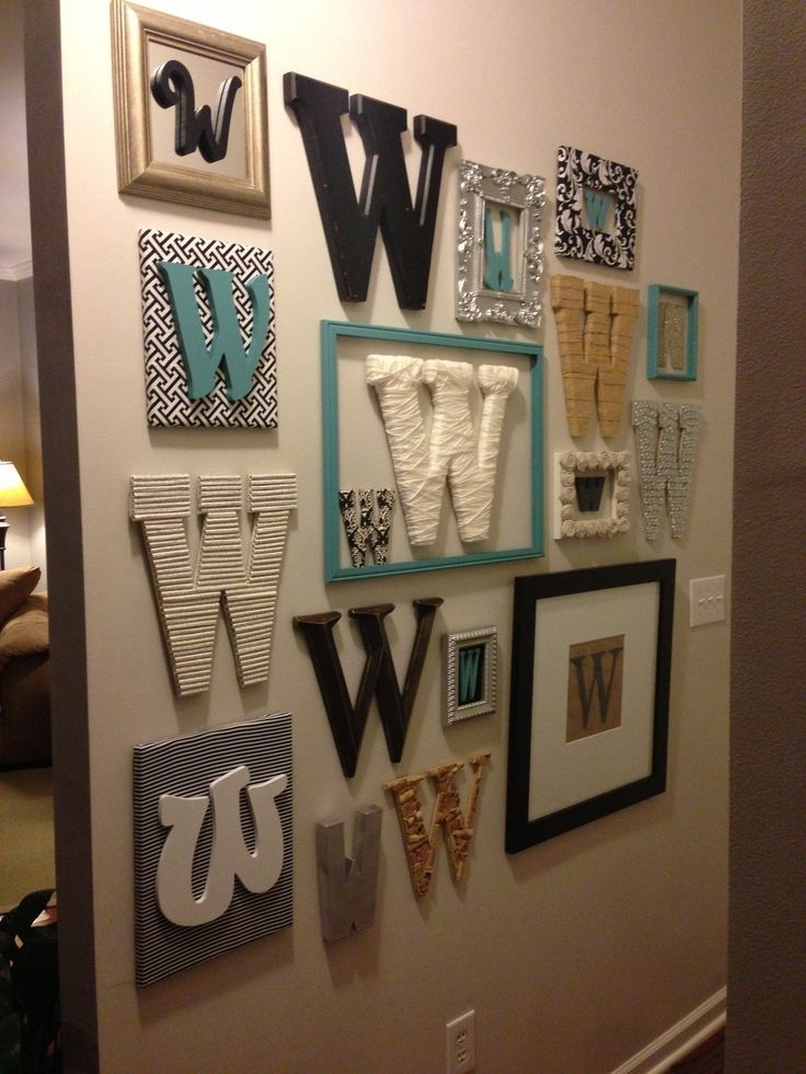 Stylish, Monogrammed Wall Decor | For The Home | Pinterest | Wall Intended For Monogram Wall Art (Image 8 of 10)