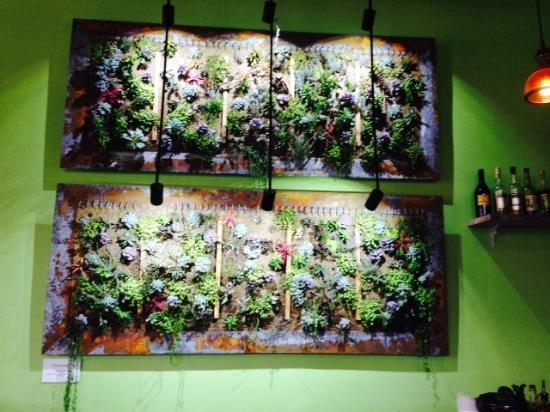 Succulent Wall Art – Picture Of Chartreuse Kitchen & Cocktails Inside Succulent Wall Art (Image 6 of 10)