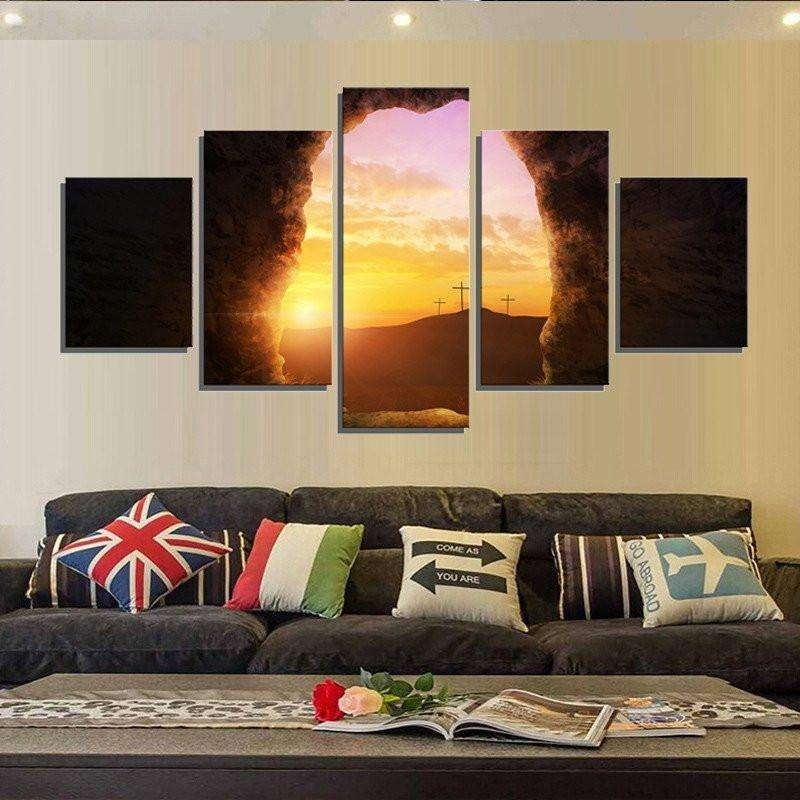 Sunrise From The Tomb Of Jesus Wall Art Multi Panel Canvas – Mighty With Multi Panel Wall Art (Image 9 of 10)