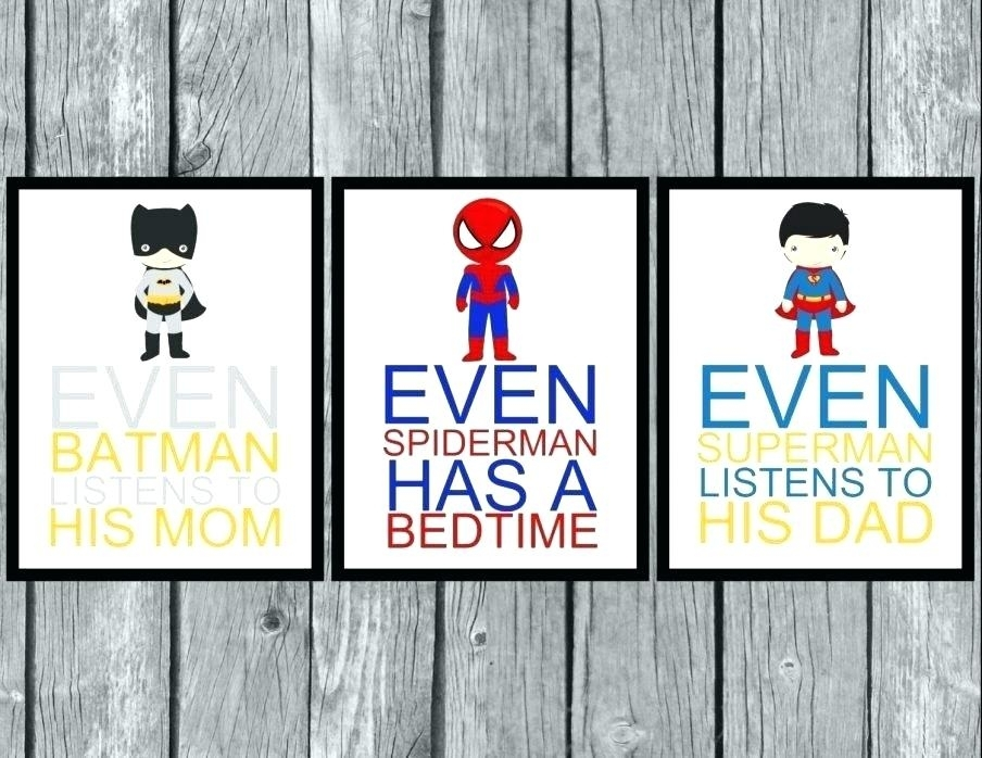 Superhero Canvas Wall Art – Soleemare Regarding Superhero Wall Art (Image 6 of 10)