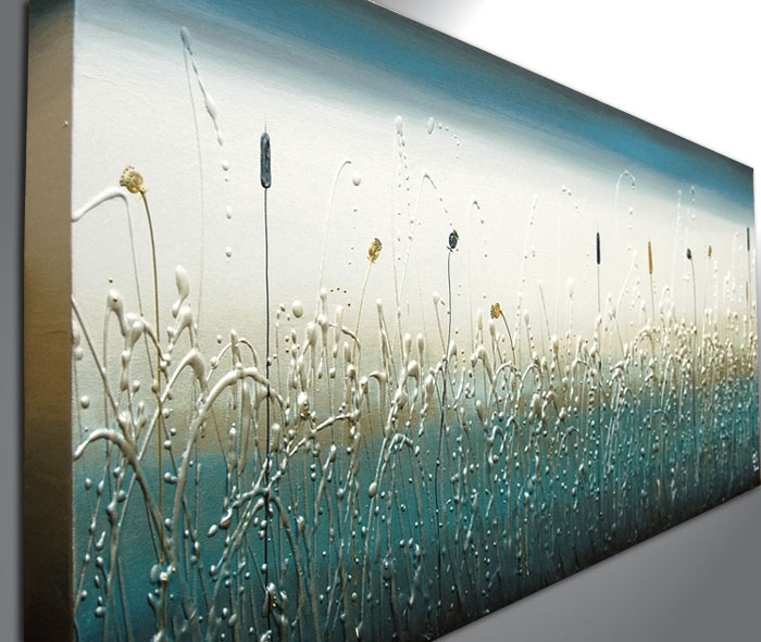 Teal Panoramic – The Sculpture Room Within Teal Wall Art (Photo 4 of 10)