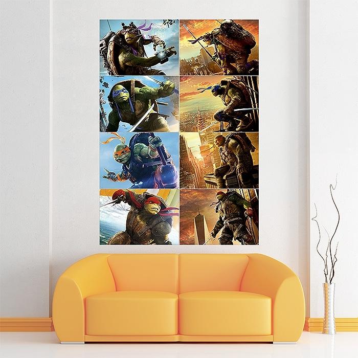 Teenage Mutant Ninja Turtles Characters Block Giant Wall Art Poster Within Ninja Turtle Wall Art (Image 6 of 10)
