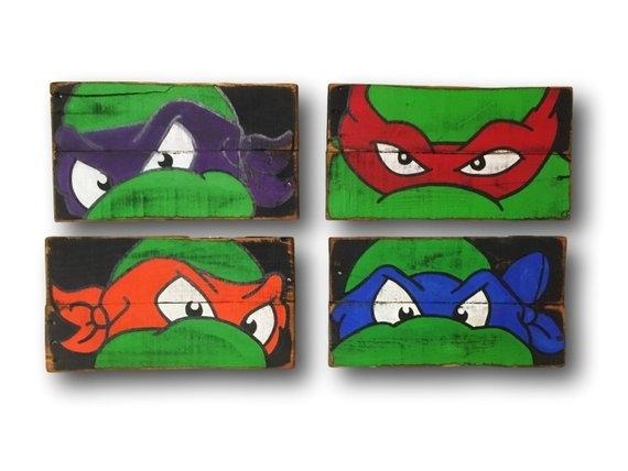 Teenage Mutant Ninja Turtles Wall Art / Turtle Room Decor / | Etsy With Ninja Turtle Wall Art (Photo 7 of 10)