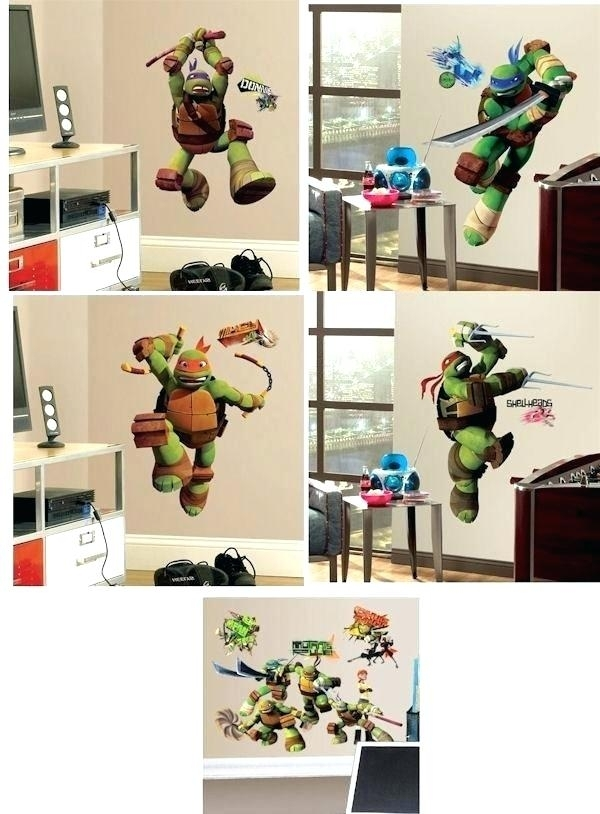 Teenage Mutant Ninja Turtles Wall Decals – Dzirehrservice Intended For Ninja Turtle Wall Art (Photo 9 of 10)