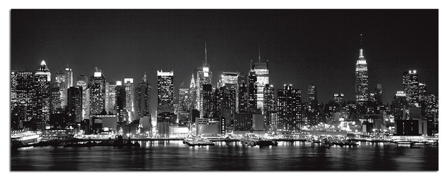 Tempered Glass Wall Art, New York City Skyline 1 – Traditional Throughout Nyc Wall Art (Image 8 of 10)