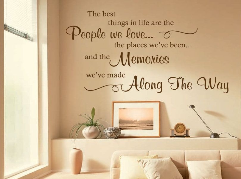 The Best Things In Life Are Wall Art Quote Sticker Decal Modern In Wall Art Quotes (Image 8 of 10)
