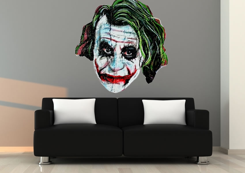 The Joker Urban Printed Wall Sticker Regarding Joker Wall Art (Image 6 of 10)