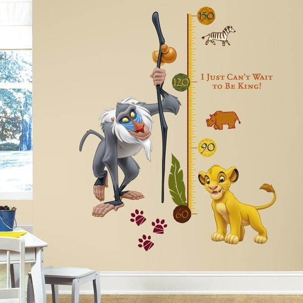 The Lion King Rafiki Height Chart Wall Stickers, Kids Wall Stickers With Regard To Lion King Wall Art (Image 9 of 10)