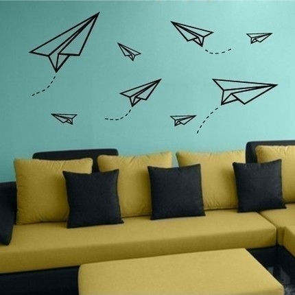 The Terrier And Lobster: Paper Planes – Http://centophobe/the Intended For Washi Tape Wall Art (Image 8 of 10)