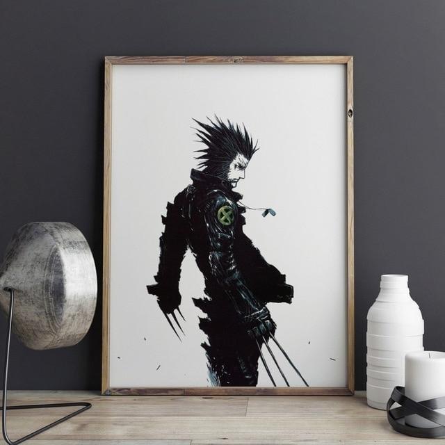 The Wolverine Art Print Wall Decor X Men Art Print Poster Wolf Wall Regarding Wall Art For Men (Image 10 of 10)