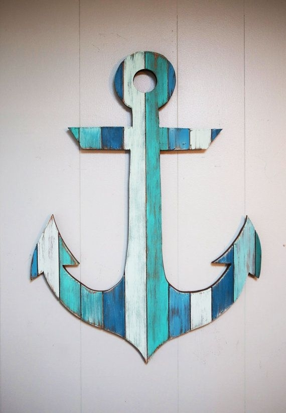This Custom Hand Painted Anchor Is One Of Our Favorite Pieces (View 3 of 10)