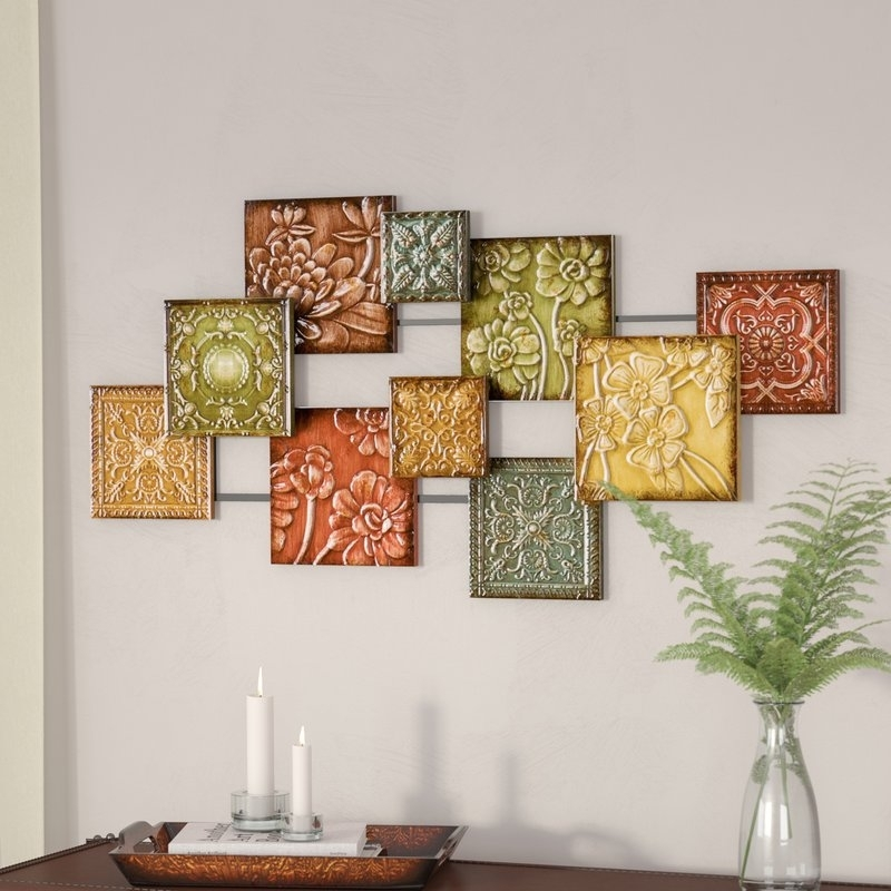 Three Posts Hodges Square Panel Wall Décor & Reviews | Wayfair Regarding Decorative Wall Art (Image 10 of 10)